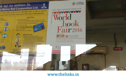 Standee World Book Fair 2016 at MetroStation